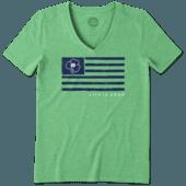 Women's Notre Dame Team Flag Cool Vee