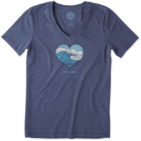 Women's Ocean Heart Wave Cool Vee