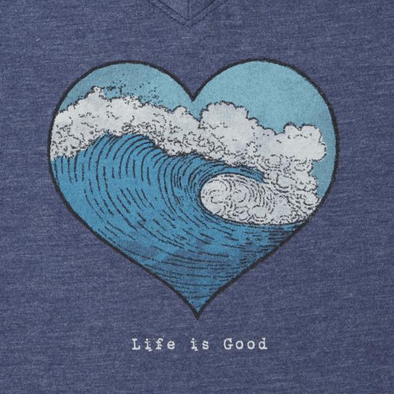 Women's Ocean Heart Wave Cool Vee