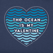 Women's Ocean Is My Valentine Crusher Vee