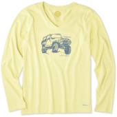 Women's Off-road Beach Long Sleeve Crusher Vee