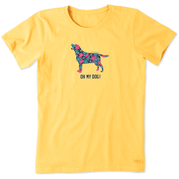 Sale Women S Oh My Dog Crusher Tee Life Is Good Official Site