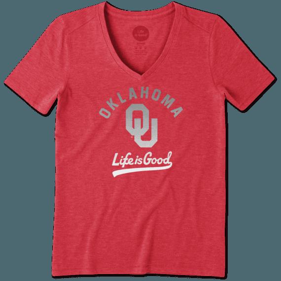 Women's Oklahoma Sooners Gradient Tailwhip Cool Vee