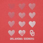 Women's Oklahoma Sooners Heart Stack Cool Vee