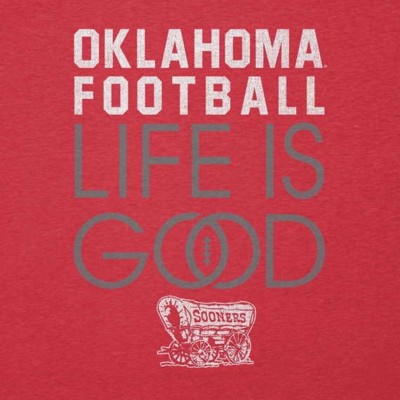 Women's Oklahoma Sooners Infinity Football Long Sleeve Cool Vee