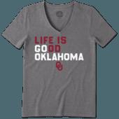 Women's Oklahoma Sooners LIG Go Team Cool Vee