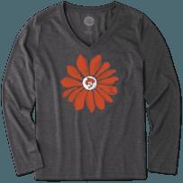 Women's Oklahoma State Cowboys Daisy Long Sleeve Cool Vee