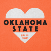 Women's Oklahoma State Cowboys Heart Knockout Cool Vee
