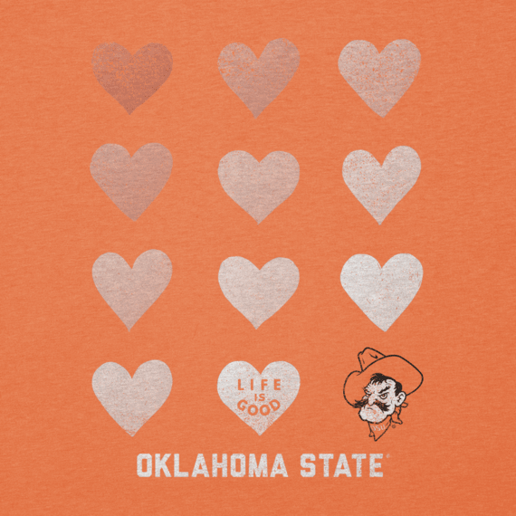 Women's Oklahoma State Cowboys Heart Stack Cool Vee