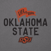 Women's Oklahoma State Cowboys Pennant Long Sleeve Cool Vee