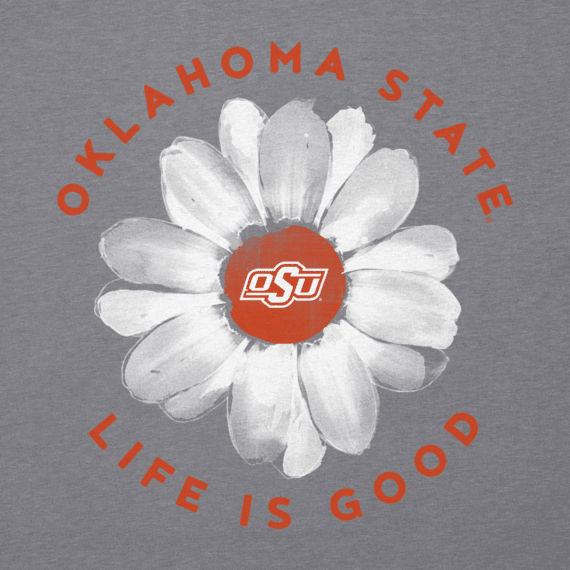 Women's Oklahoma State Daisy Long Sleeve Cool Vee