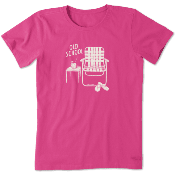 Women's Old School Beach Chair Crusher Tee