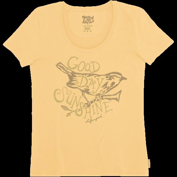 e679d91da Women's Gold Bird Organic Scoop Neck tee | Bird Tee Shirts | Life is ...
