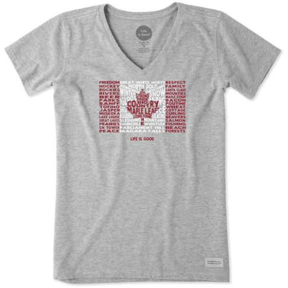 Women's Our Flag Canada Crusher Vee
