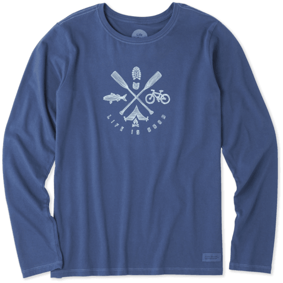 Women's Outdoor Action Long Sleeve Crusher Tee