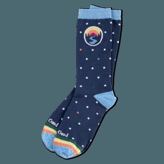 Women's Outdoor Polka Dot Crew Socks