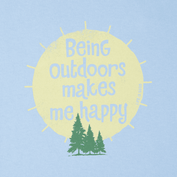 Women's Outdoors Makes Me Happy Crusher Tee