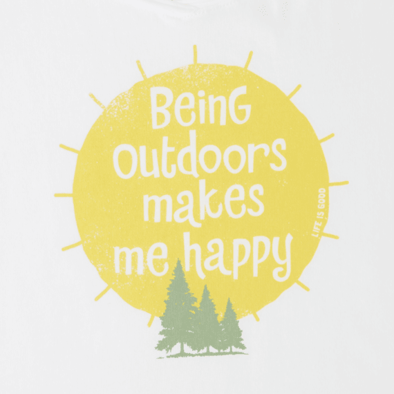 Women's Outdoors Makes Me Happy Smooth Scoop Tee