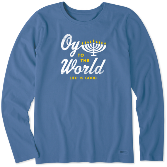 Women's Oy to the World Long Sleeve Crusher Tee