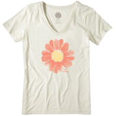 Women's Painted Daisy Cool Vee