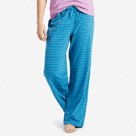 Women's Painted Trees Jersey Sleep Pants