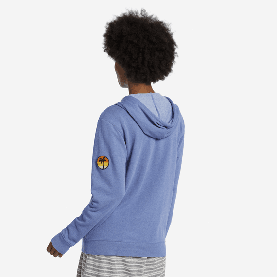 Women's Palm Patch Simply True Zip Hoodie