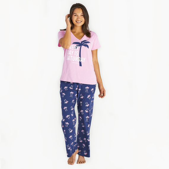 Women's Palm Print Snuggle Up Sleep Pant
