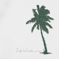 Women's Palm Tree With Lights Long Sleeve Crusher Vee
