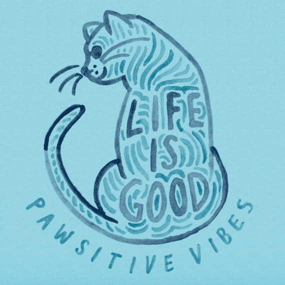 Women's Pawsitive Vibes Cat Crusher Vee