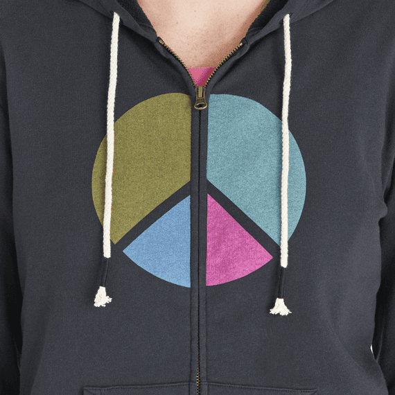 Women's Peace Colorblock Simply True Zip Hoodie