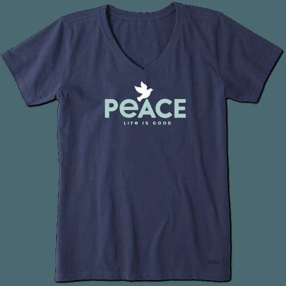 Women's Peace Dove Crusher Vee