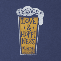 Women's Peace Love & Hoppiness Crusher Scoop Tee