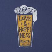 Women's Peace Love & Hoppiness Crusher Vee