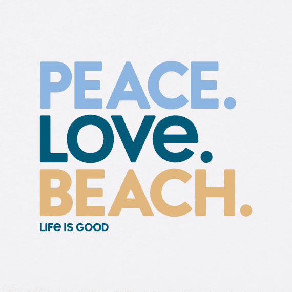 Women's Peace Love Beach Crusher Tee