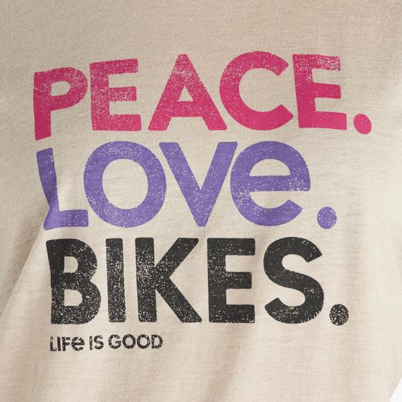 Women's Peace Love Bikes Ringer Cool Tee