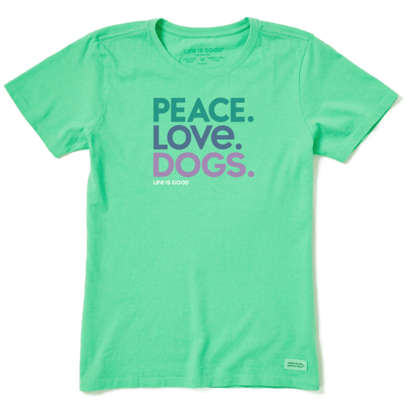 Women's Peace Love Dogs Crusher Tee