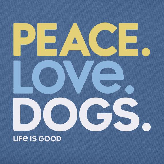 Women's Peace Love Dogs Long Sleeve Crusher Tee