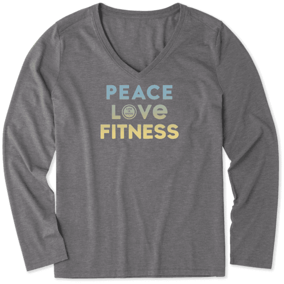 Women's Peace Love Fitness Long Sleeve Cool Vee