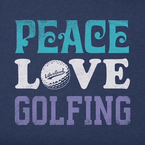 Womens Peace Love Golfing Short Sleeve Tee