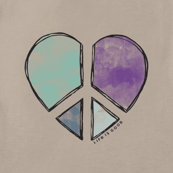Women's Peace Love Heart Long Sleeve Cool Tee