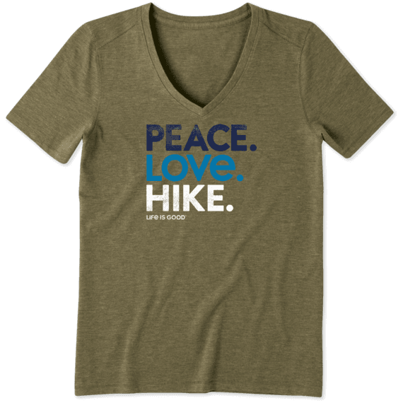 Women's Peace. Love. Hike. Cool Vee