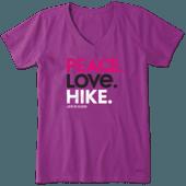 Women's Peace Love Hike Crusher Vee