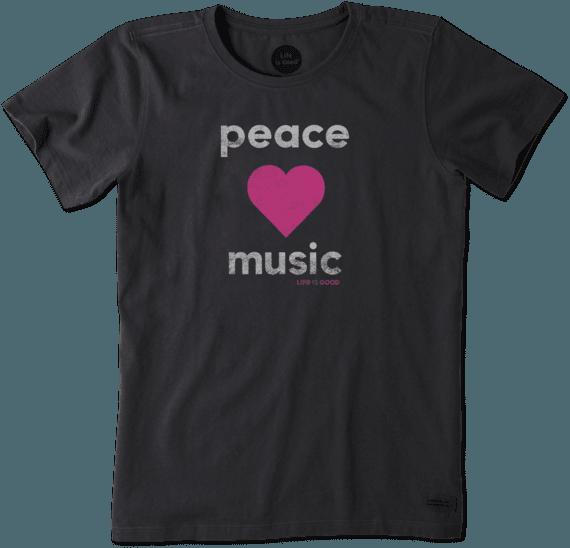 Women's Peace Love Music Crusher Tee