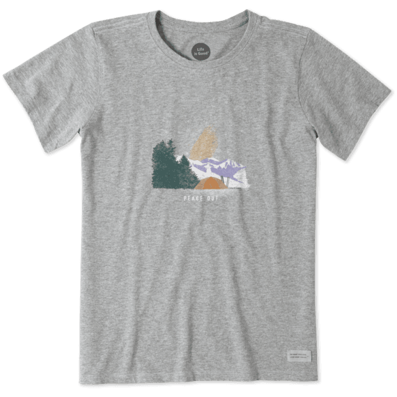Women's Peace Out Camping Crusher Tee