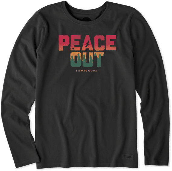 Women's Peace Out Long Sleeve Crusher Tee