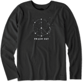 Women's Peace Out Universe Long Sleeve Crusher Tee