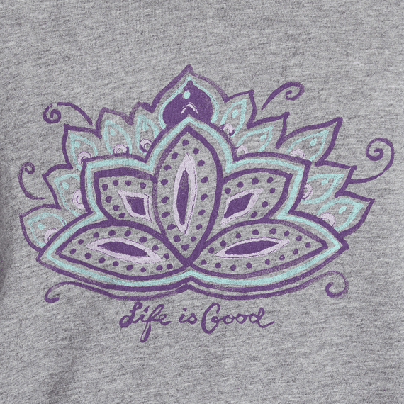 Women's Peaceful Lotus Hooded Long Sleeve Smooth Tee