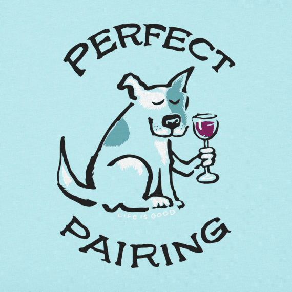 Women's Perfect Pairing Dog & Wine Crusher Vee
