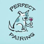 Women's Perfect Pairing Dog & Wine Crusher Vee