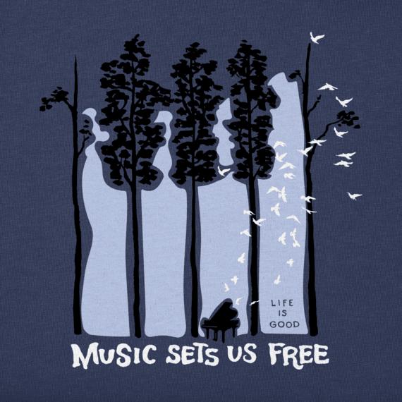Women's Piano Trees Crusher Vee